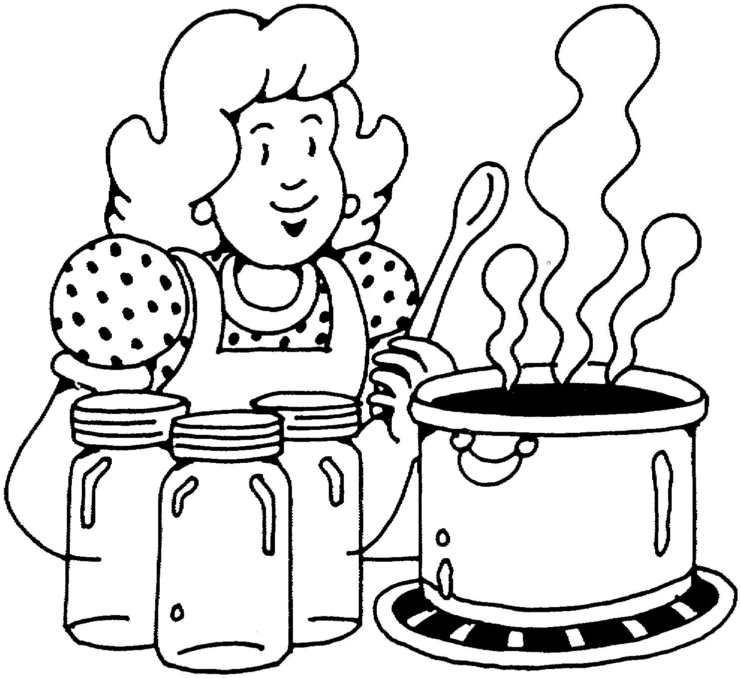 Картинки повара для детей раскраски