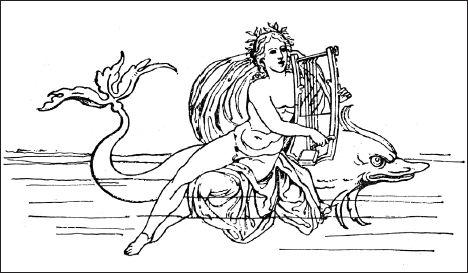 день иллюстрации о легенде об арионе четко
