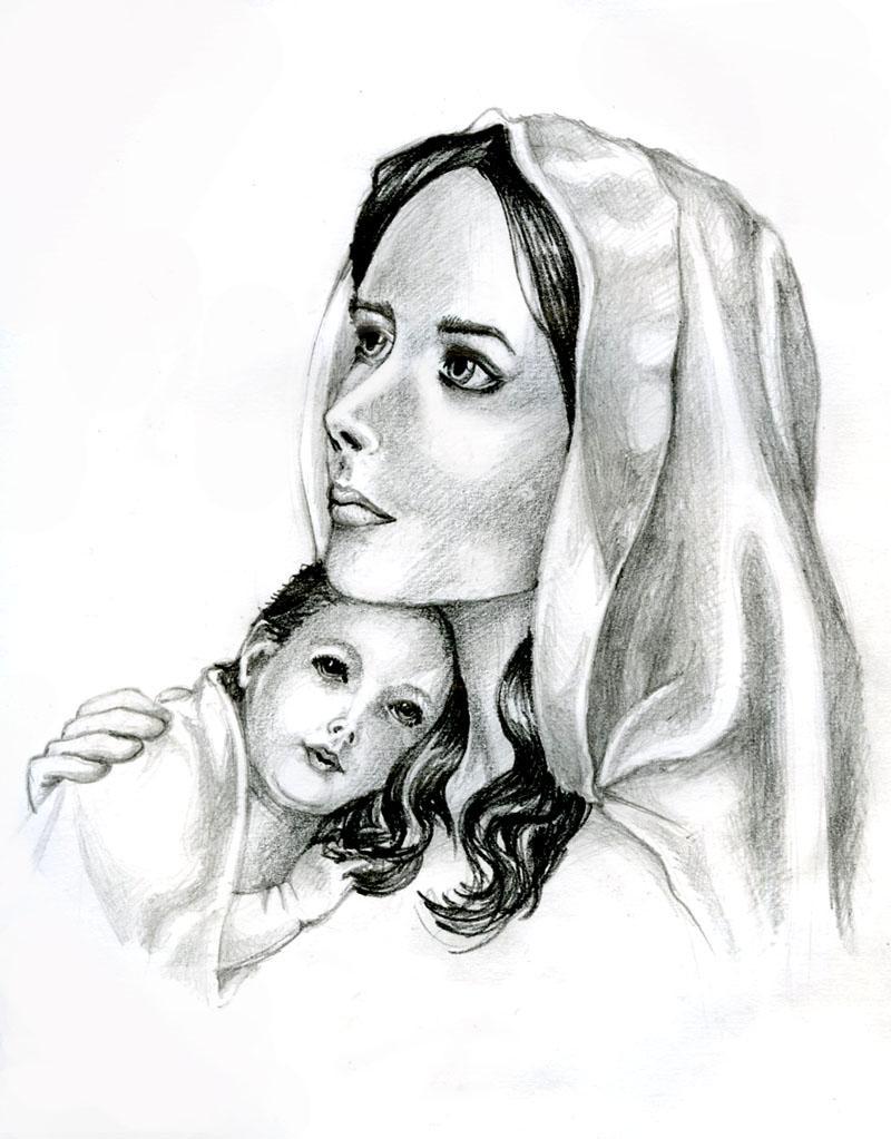 рисунок на день матери карандашом картинки показывает