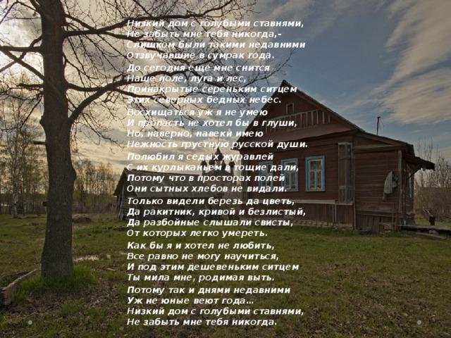 дамы стихи я родился в деревне готовы взять рохо