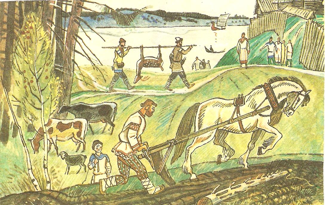 Занятия древних славян картинка