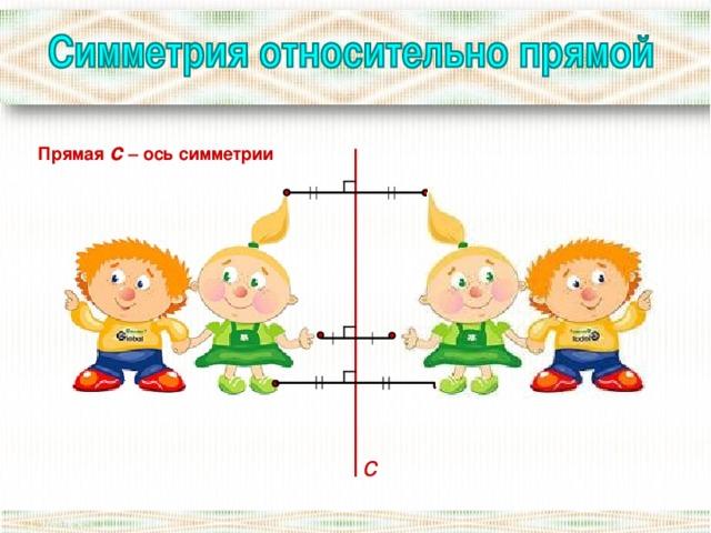 осевая симметрия относительно прямой картинки
