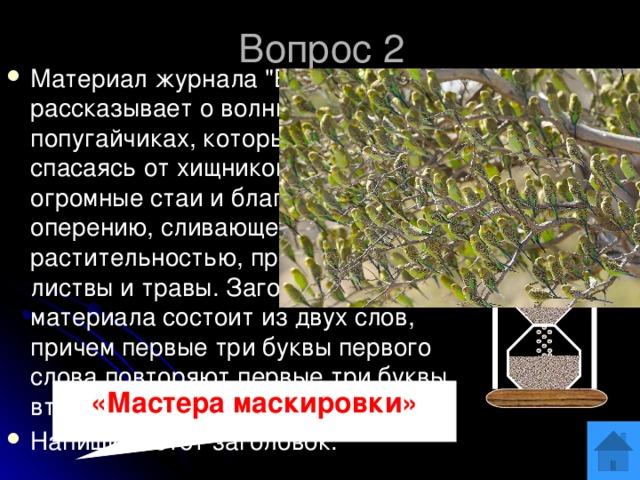 Вопрос 2 Материал журнала