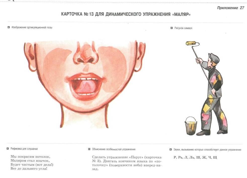 Упражнение маляр в картинках