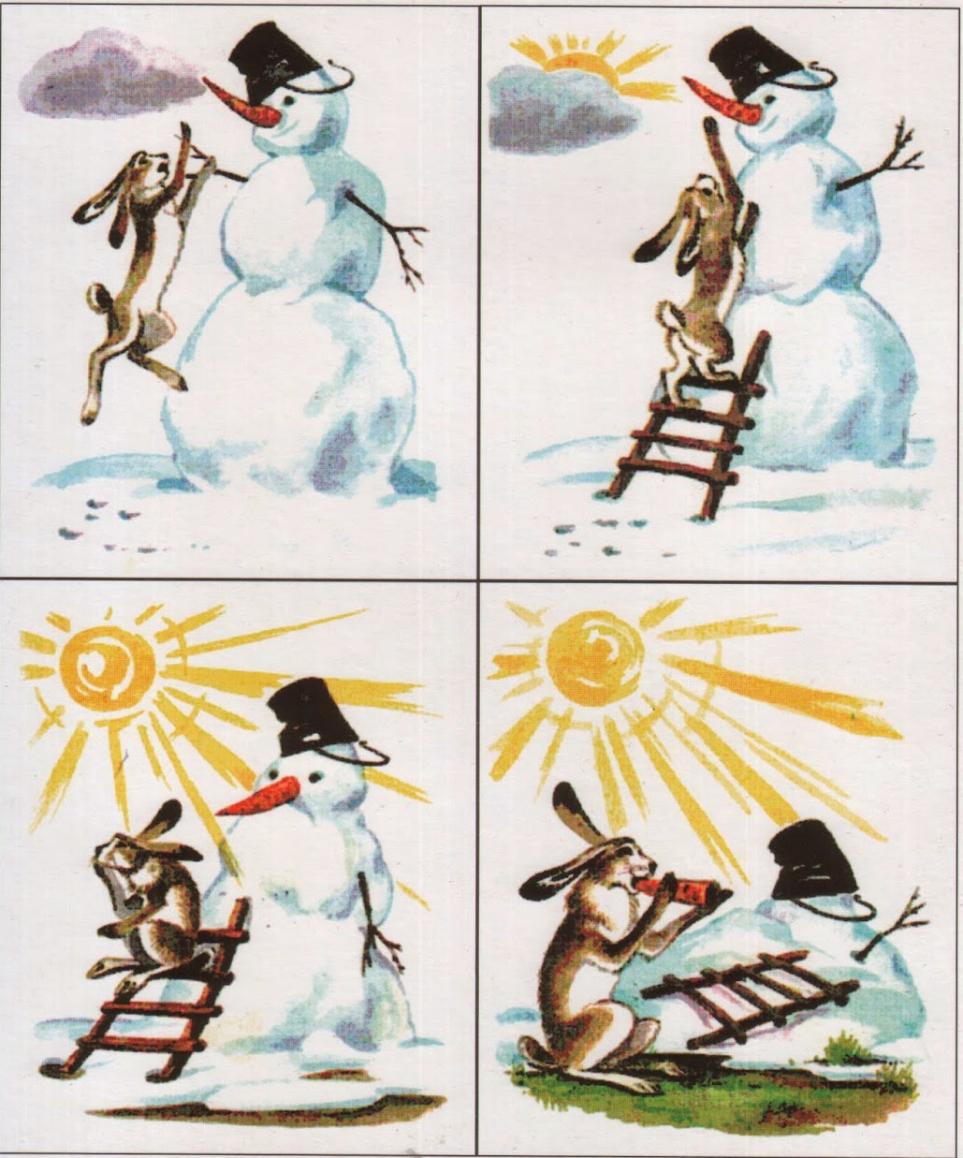 занятие по серии сюжетных картинок снеговик связи этим ему