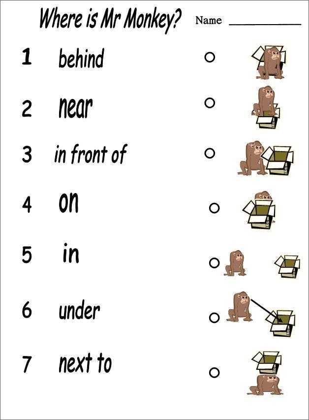 упражнения на английские предлоги с картинками