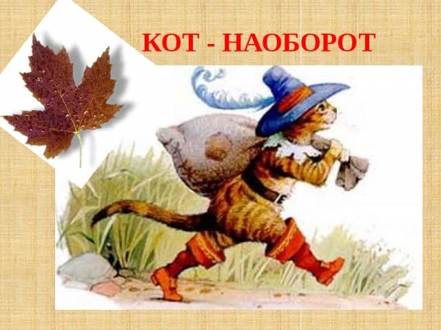 КОТ - НАОБОРОТ