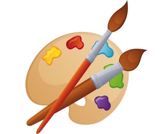 Кисточки и краски картинки для презентации