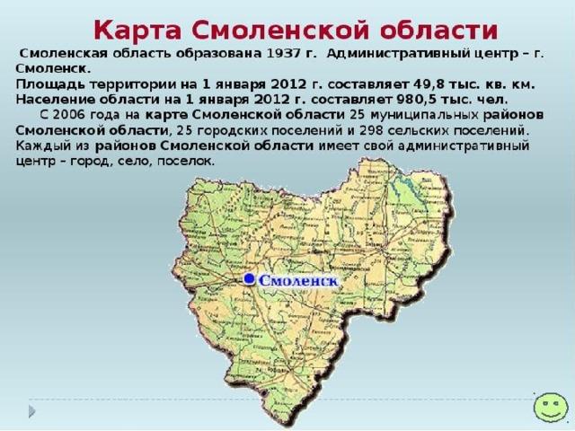 Смоленская область картинка с районами