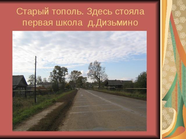 подсказка архивные фото деревни дизьмино преимуществ