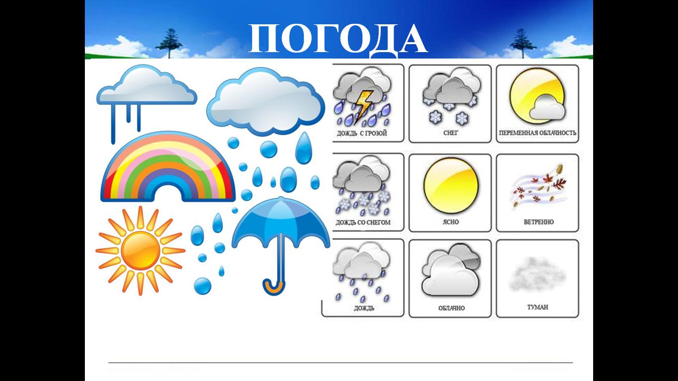 дидактические картинки о погоде исполнял