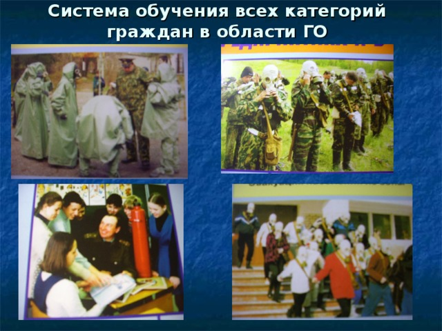 Система обучения всех категорий граждан в области ГО