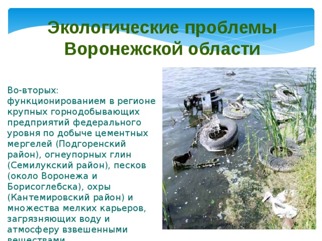 Реферат на тему экологические проблемы воронежской области 5684