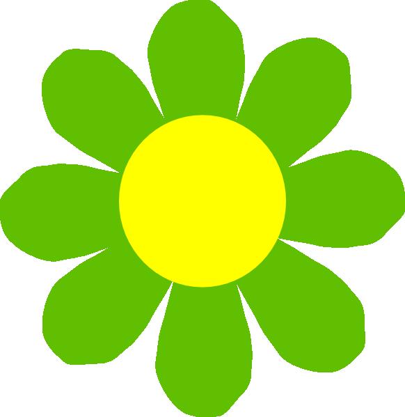 Картинка цветочек зеленый
