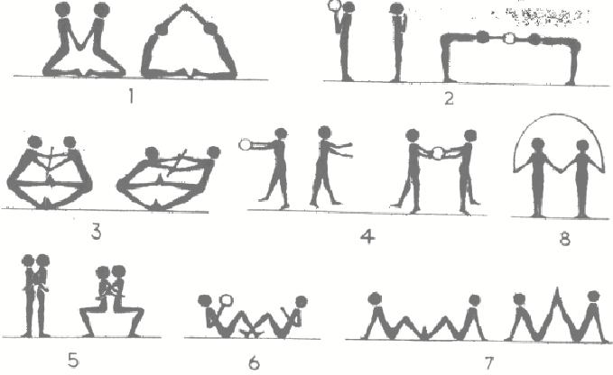 Картинки упражнения в парах