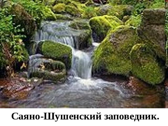 Саяно-Шушенский заповедник.