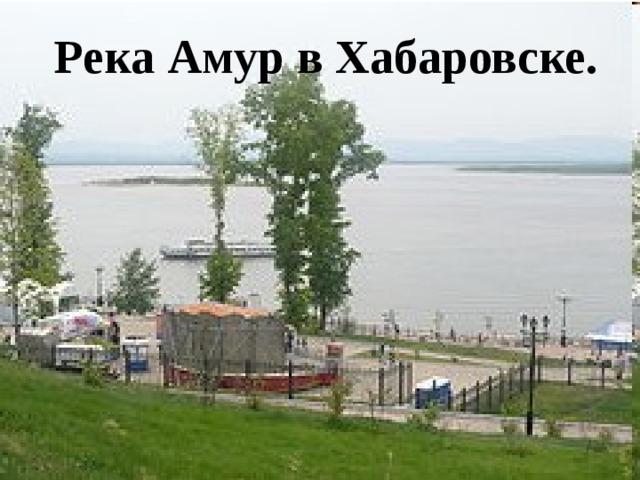 Река Амур в Хабаровске.