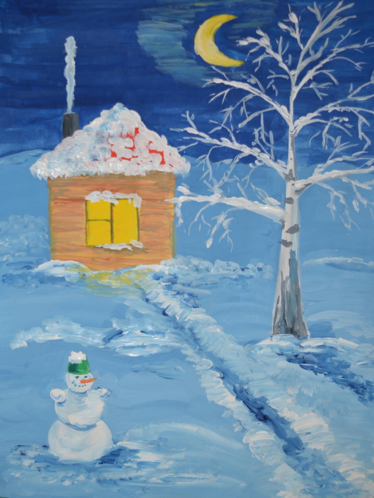 Легкие картинки про зиму