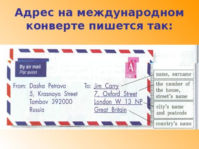 Как правильно писать адрес на английском на открытке, багульником