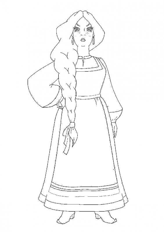 Картинки народный костюм для срисовки, летием девочке