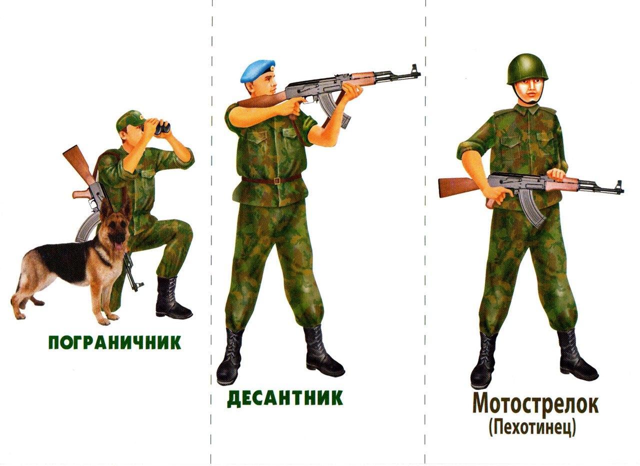 Картинки роды войск для детского сада