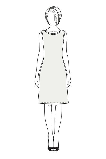 Женщина рисунок карандашом в полный рост в платье, анимация открытка