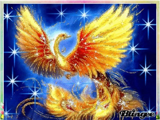 Поздравления февраля, открытка жар-птица на день рождения