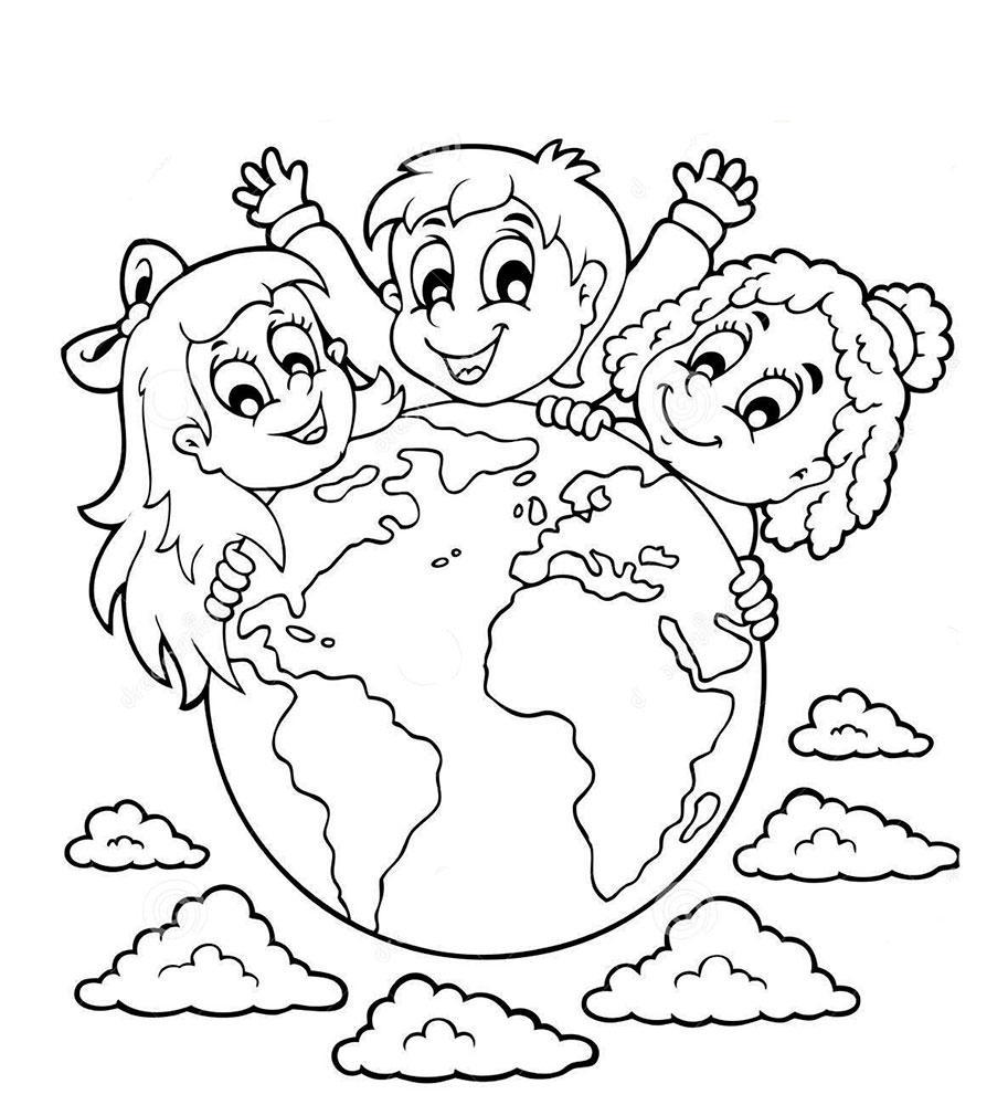 простые рисунок на тему толерантность раскраска залимхановна