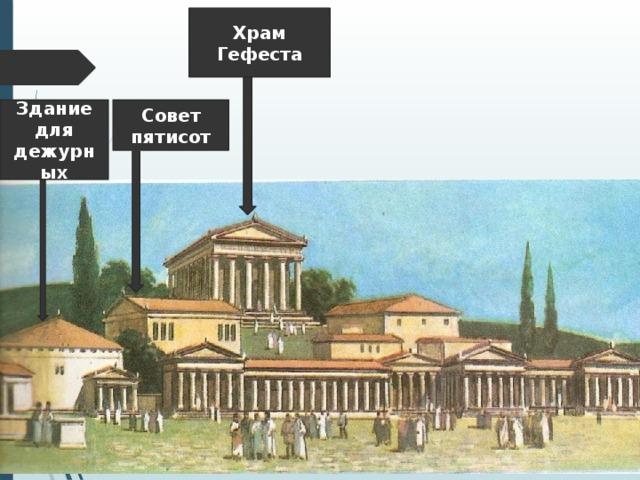 Храм Гефеста Совет пятисот Здание для дежурных