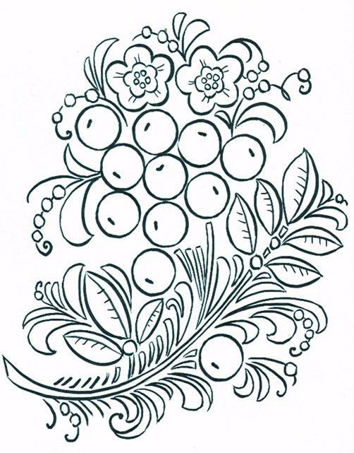 Шаблоны хохломской росписи картинки