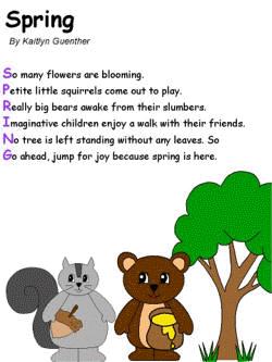 можете произвести стихи на английском 4 класс про весну жемчужной свадьбой