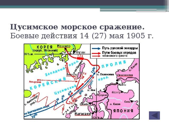 Цусимское морское сражение. Боевые действия 14 (27) мая 1905 г.
