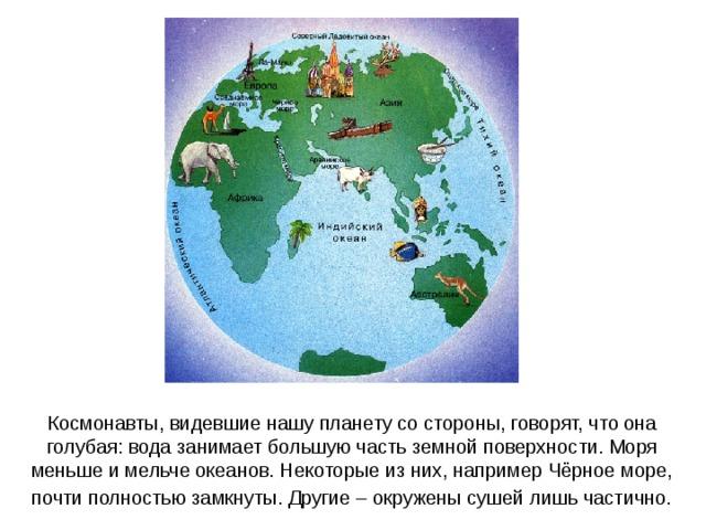 большую часть земной поверхности занимает