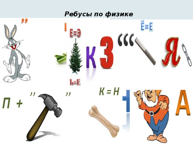Ребусы по физике в картинках