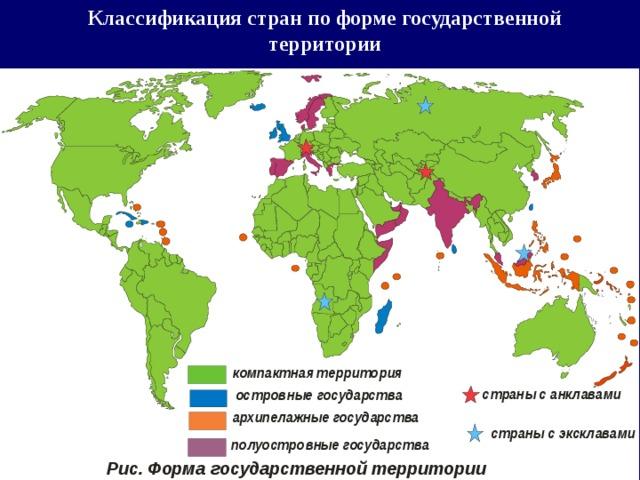 Классификация стран по форме государственной территории