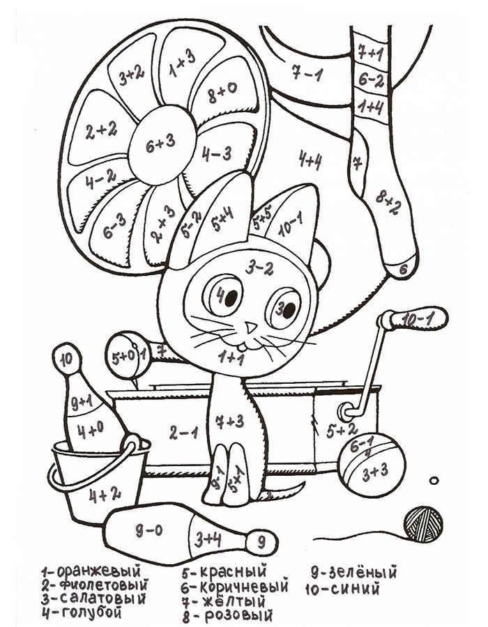 Картинки раскраска математика