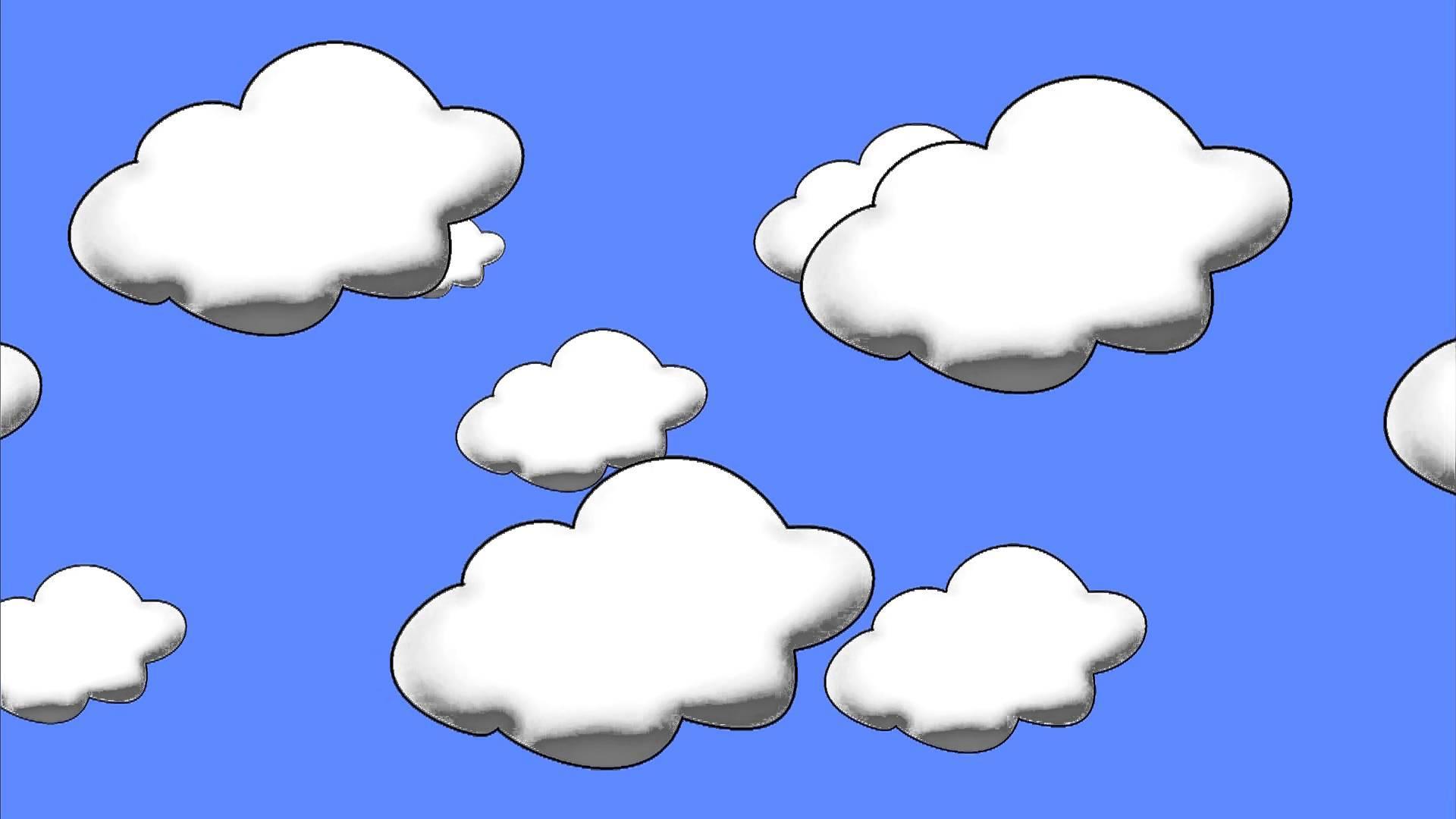 Облака нарисованные картинка