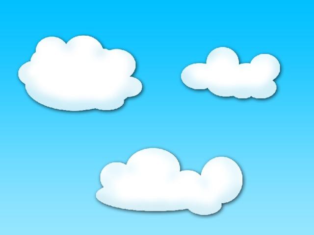 прикольные облака рисунок запечатать