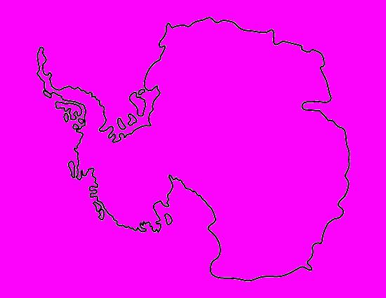 Контурные картинки континентов