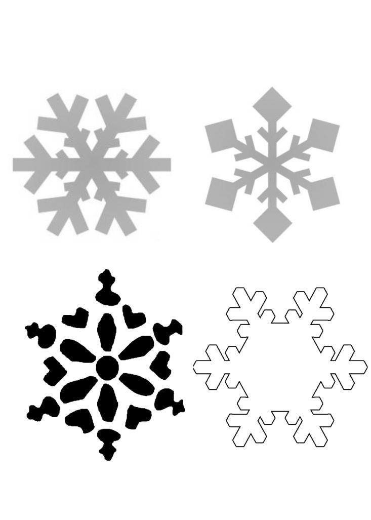 снежинка из бумаги шаблон картинка