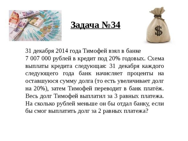 15 января планируется взять кредит в банке на 24 месяца