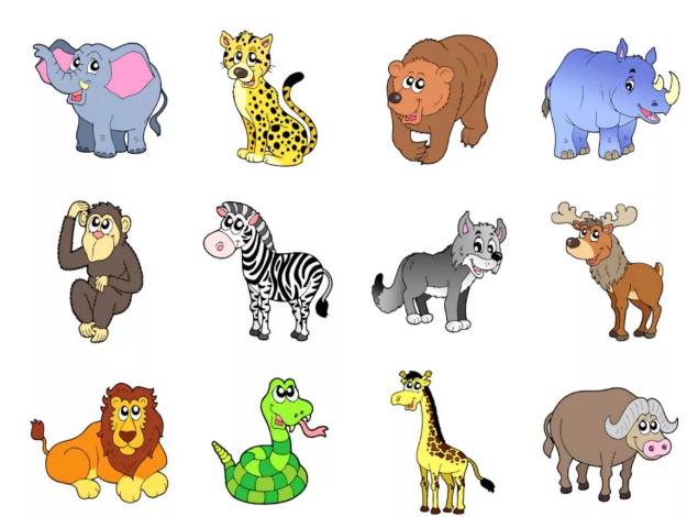 Разные картинки для детей животных