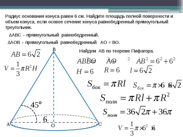 Задачи с конусом с решением 11 класс решение задач по физика егэ 2012