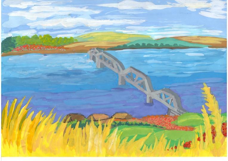 Выполни рисунки показывающие реку твоего края или помести фотографию волга
