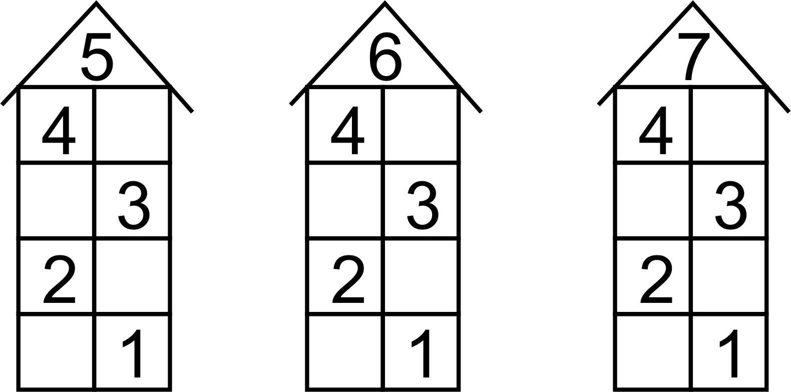 Домики состав числа картинки распечатать