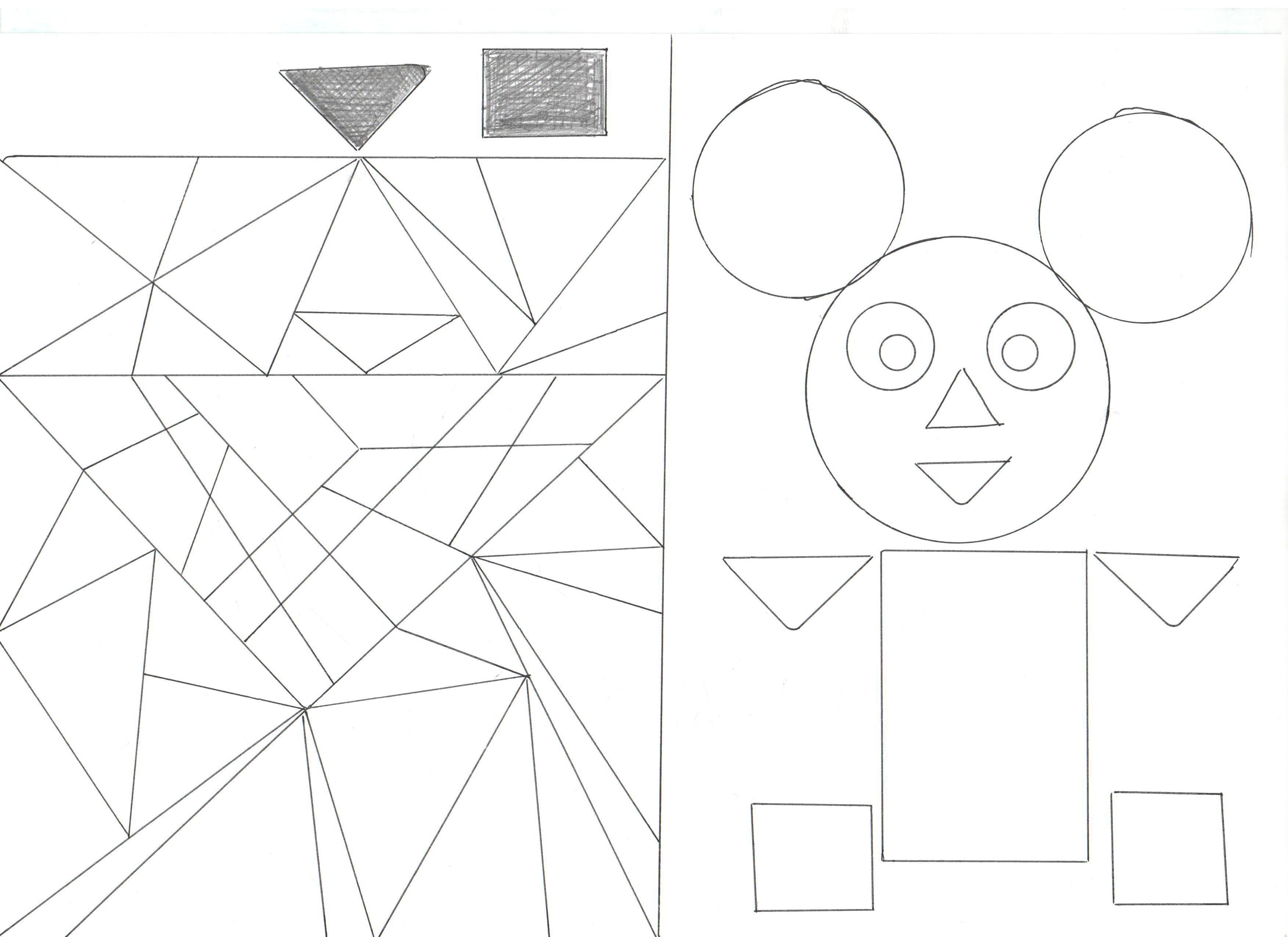 говора том, несложные картинки из геометрических фигур беседку