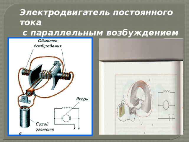 Электродвигатель постоянного тока с параллельным возбуждением