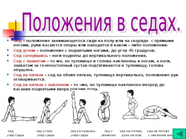 Положение тела когда руки находятся ниже точки опоры ноги касаются пятками пола поставщики женского нижнего белья мелким оптом