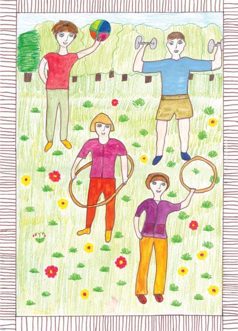 Детские рисунки мама папа я здоровая семья