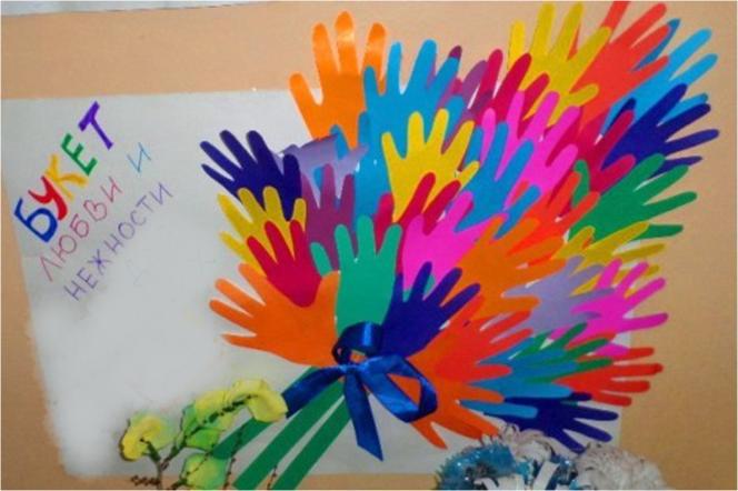 Пожелания на ладошке из бумаги воспитателям